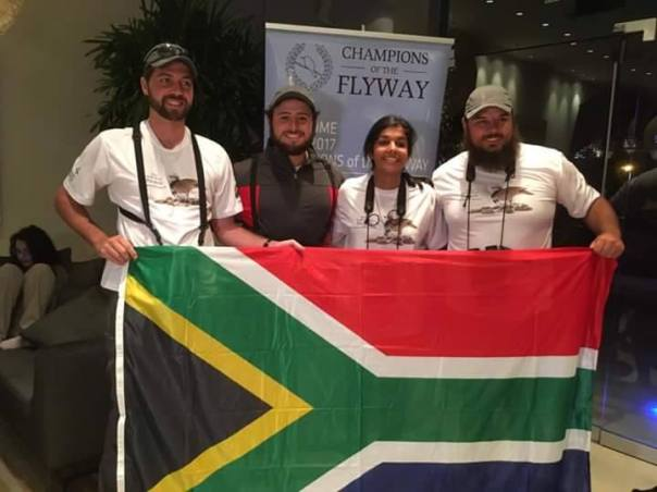 Youth Africa Birders from South Africa winer of the Guardians of the Flyway for raising 8,900 Euros for the COTF.